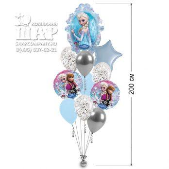 Букет воздушных шаров «Эльза и Анна»