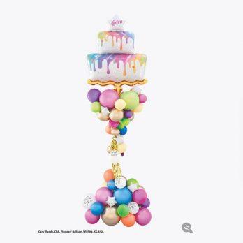 Композиция из шаров «Праздничный торт!»