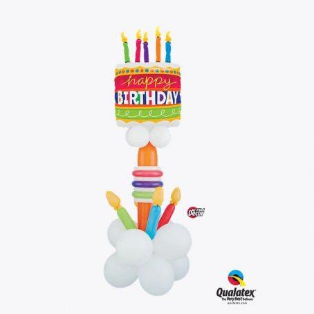 """Фигура из шаров """"Торт и свечи"""""""