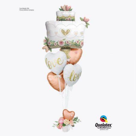 """Букет из шаров """"Свадебный торт"""""""