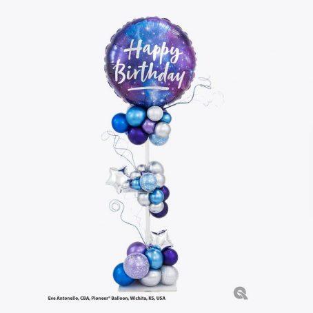 """Стойка из шаров """"Клевый день рождения"""""""