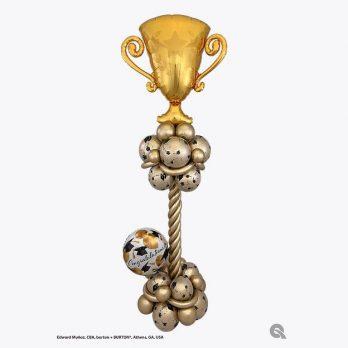Стойка из шаров «Поздравляем чемпиона»