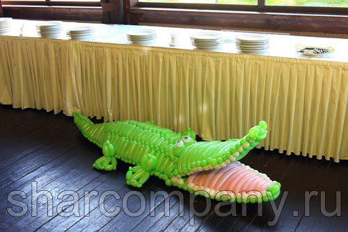 фигура из шаров крокодил