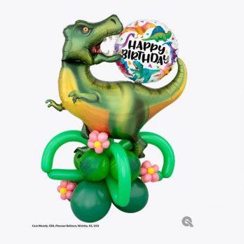 Композиция из шаров «Рычащий динозавр»