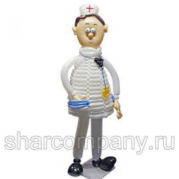 """Фигура из шаров """"Доктор Пилюлькин"""""""