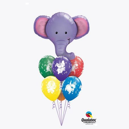 """Букет из шаров """"Слоны все помнят"""""""