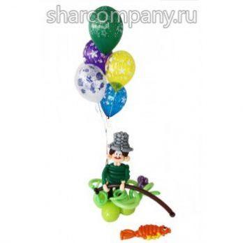Букет из воздушных шаров «Рыбак»