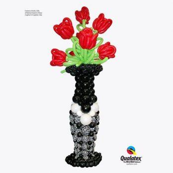 Стойка из шаров «Гигантская ваза»