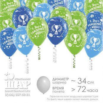 Гелиевые шары «С днем рождения Футболист»
