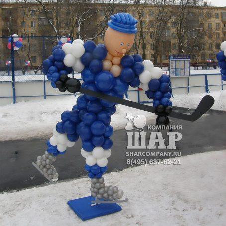 фигура из шаров хоккеист