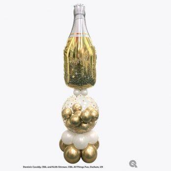Фигура из шаров «Настоящее золото»