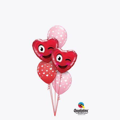 """Букет воздушных шаров """"Розовый и Красный"""""""