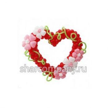 Фигура из шаров «Сердце с цветами»