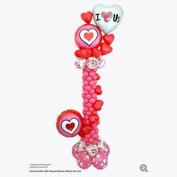 Стойка из шаров»Ты в моем сердце»