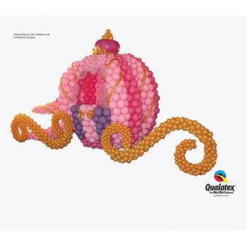 Фигура из шаров «Карета принцессы»