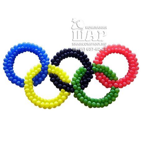 """фигура из шаров """"Олимпийские кольца"""""""