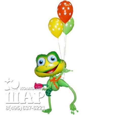 забавный лягушонок из шариков