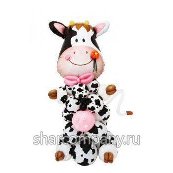 композиция из шаров корова