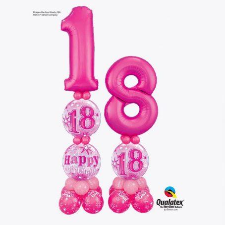 """Цифры из шаров """"Счастливые 18"""""""