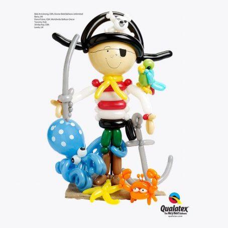 """Фигура из шаров """"Пират Джек"""""""