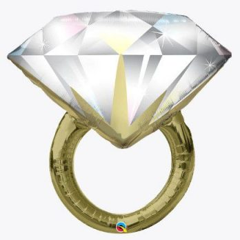 Фольгированный шар «Кольцо с бриллиантом»