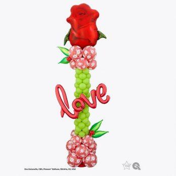 Стойка из шаров «Цветущая любовь»