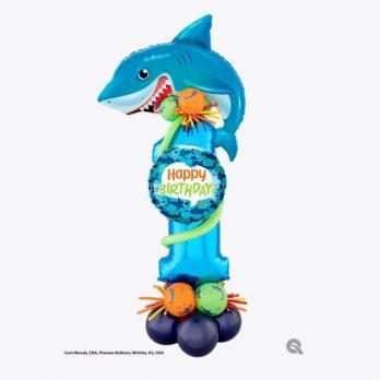 Цифра из шаров «Акуленок»