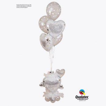 Букет из шаров «Серебряная свадьба»