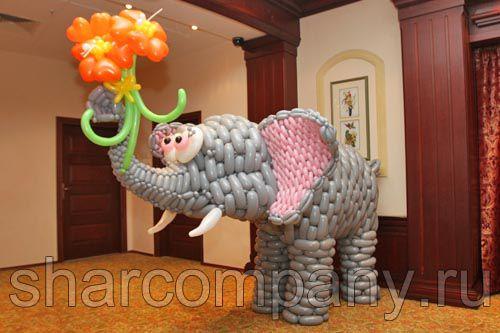 фигура из шаров слон
