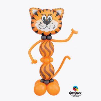 Фигура из шаров «Рычащий тигр»