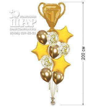 Букет воздушных шаров «Чемпион мира»