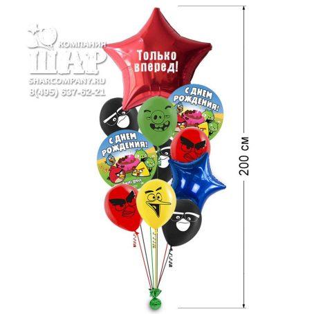 """Букет воздушных шаров """"Angry Birds"""""""