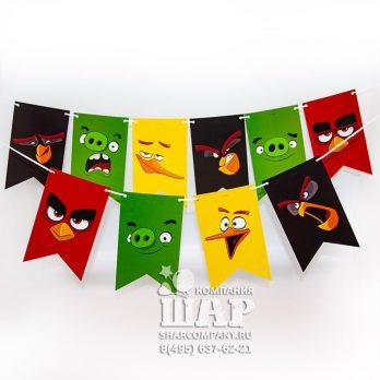 Бумажная гирлянда «Angry Birds»