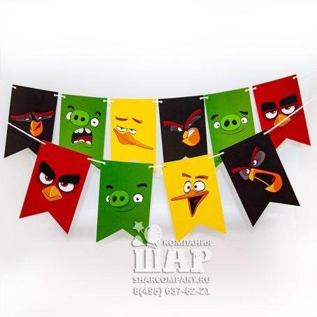 """Бумажная гирлянда """"Angry Birds"""""""