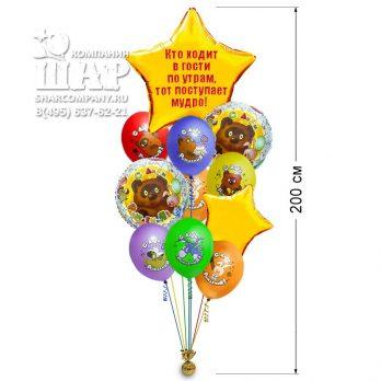 Букет гелиевых шаров » С днем рождения Винни»