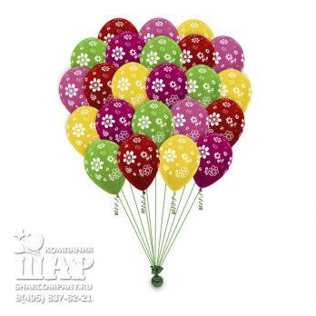 """Гелиевые шары """"Яркие цветы"""""""