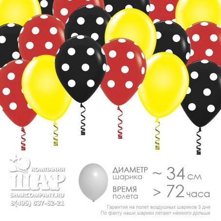 """Гелиевые шары """"Вечеринка Мики и Минни"""""""
