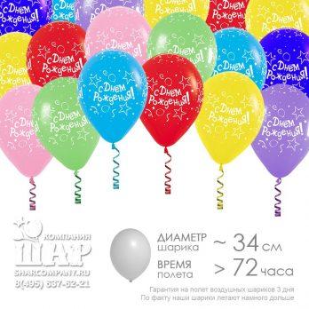 Гелиевые шары «С днем рождения»