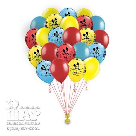 """Гелиевые шары """"Поздравление от Микки Мауса"""""""