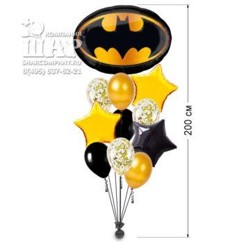 Букет из шаров «Бэтмен эмблема»