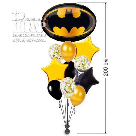 "Букет из шаров ""Бэтмен эмблема"""