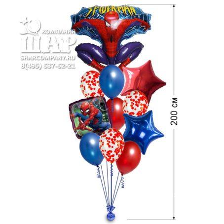 """Букет из шаров """"Человек - паук"""""""