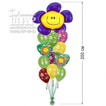 """Букет из шаров """"Цветок Смайл"""""""