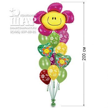 Букет из шаров «Цветок Смайл»