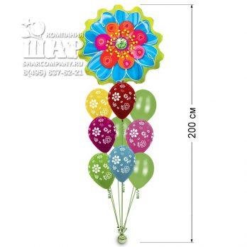 Букет из шаров «Экзотический цветок»
