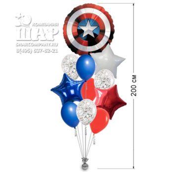 Букет из шаров «Капитан Америка»