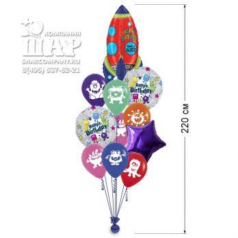 Букет из шаров «Космический полет»