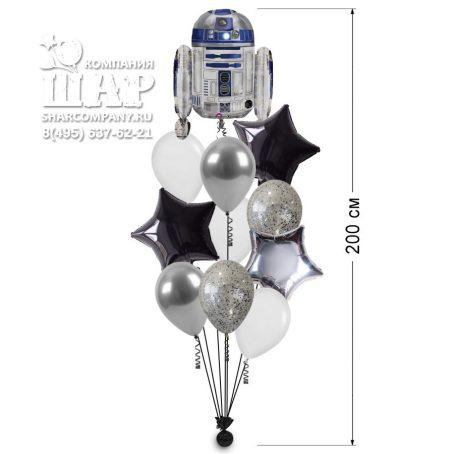 """Букет из шаров """"Робот R2D2"""""""