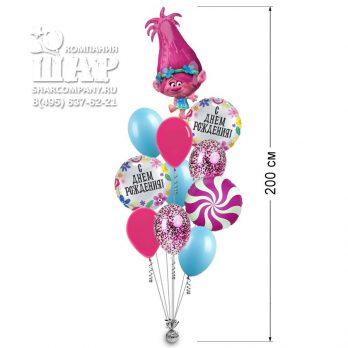 Букет из шаров «С днем рождения, Розочка!»