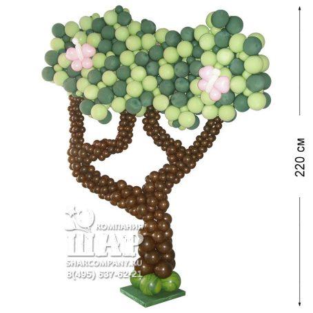 """Фигура из шаров """"Дерево большое"""""""